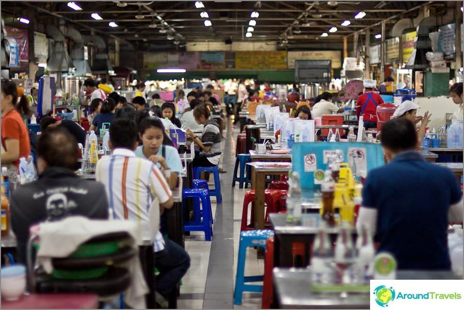 Thaimaan ruokatuomioistuin markkinoilla