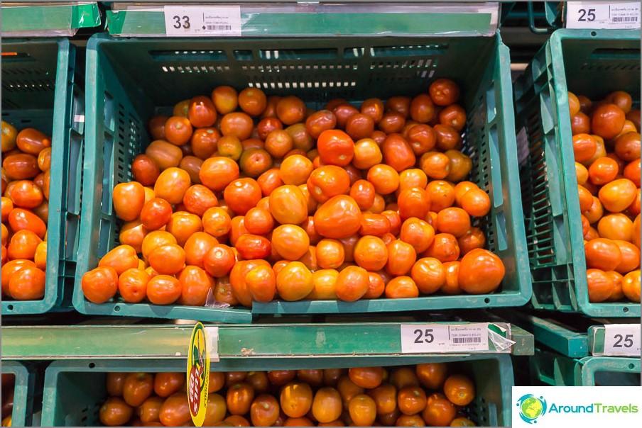 Tomaatit, hinta per 1 kg