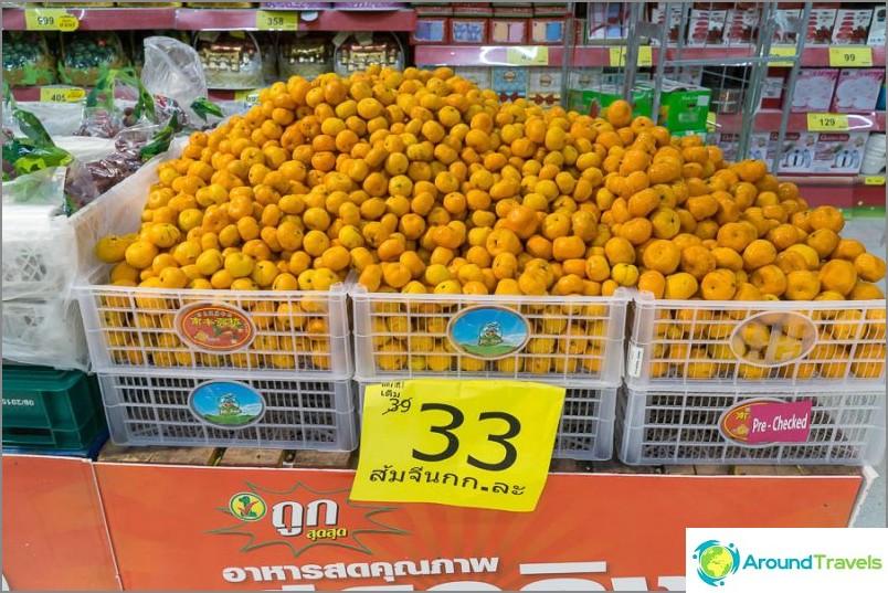 Paikalliset mandariinit, hinta per 1 kg