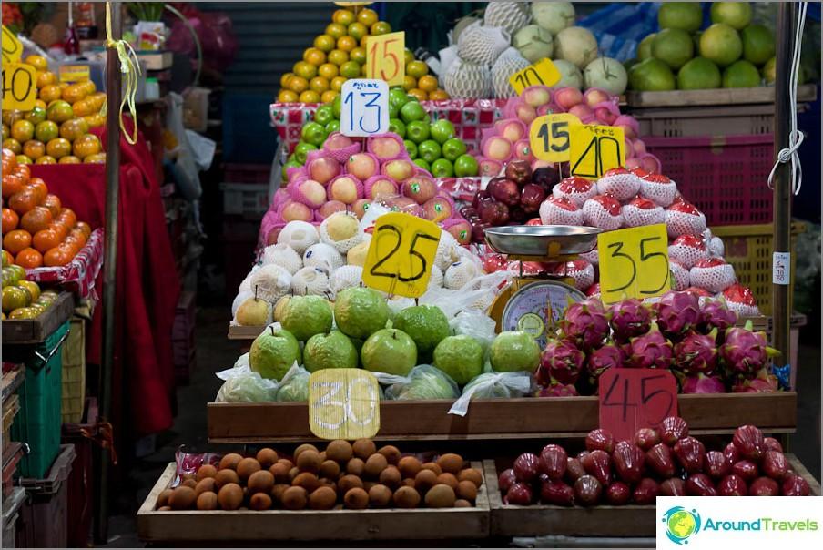 Цени на плодове в Тайланд