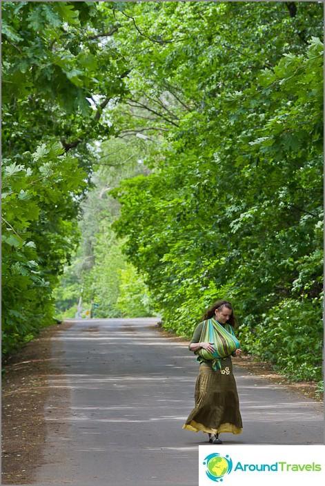 Ajotie muodostaa vihreän käytävän