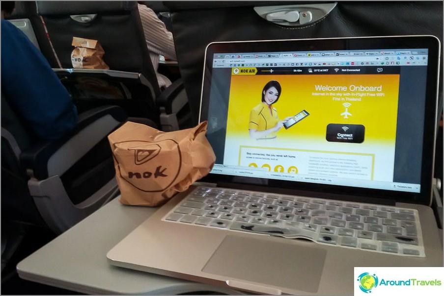 Wifi Nok Air -laitteessa