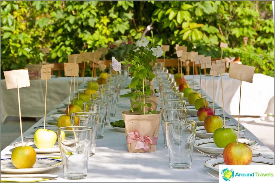 Lomupöytä ja jokainen omena