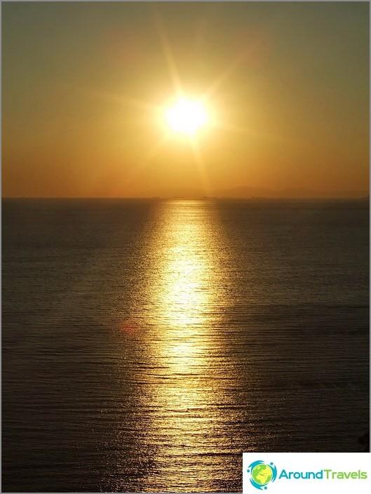 Залез на Черно море.