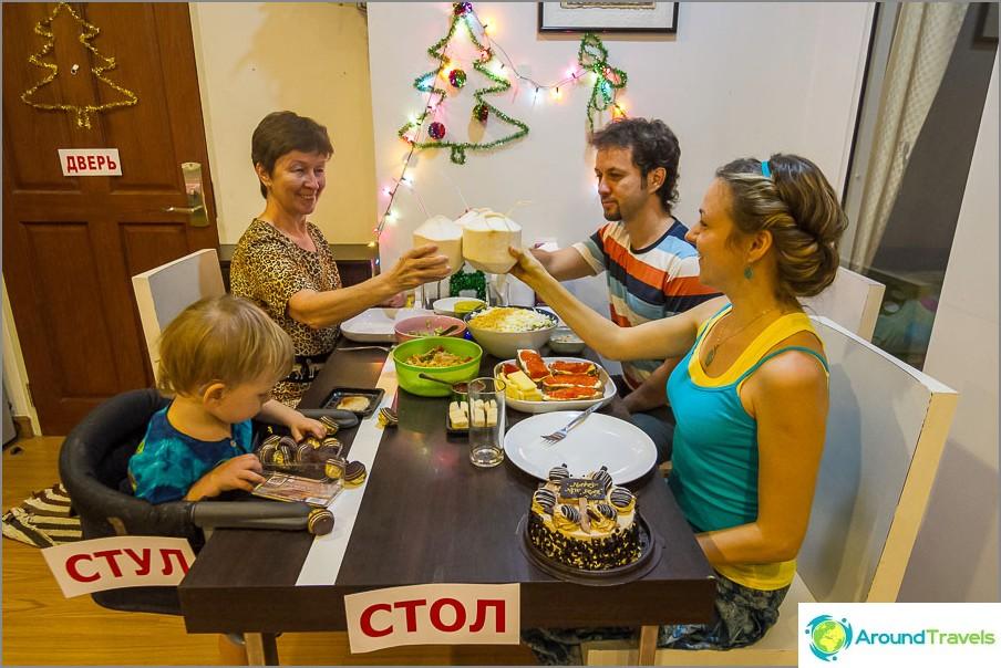 Familjesemesterbord