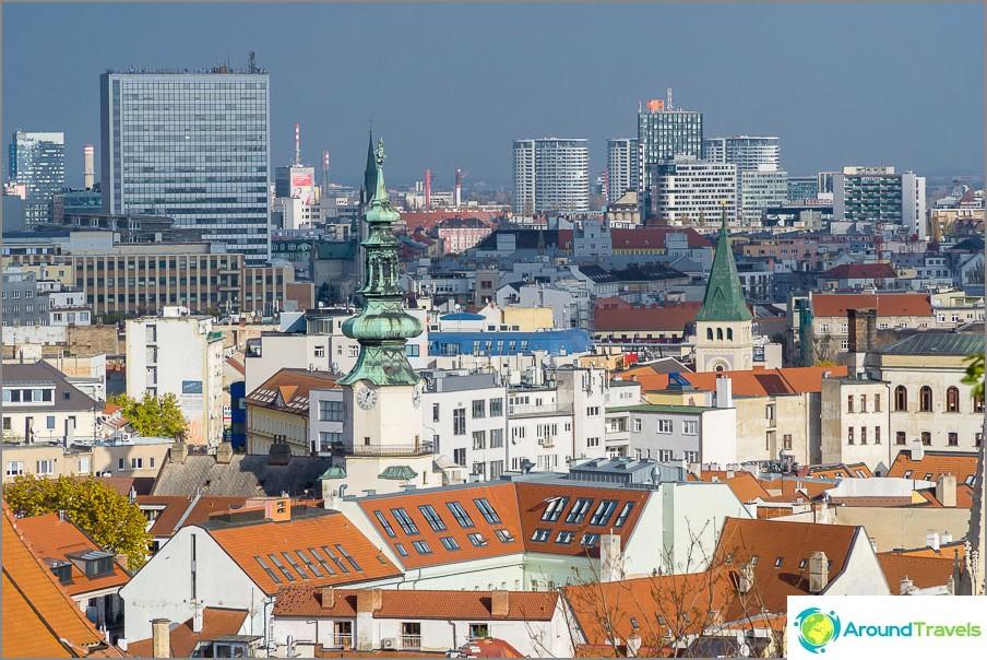 Näkymä Bratislavan vanhaankaupunkiin