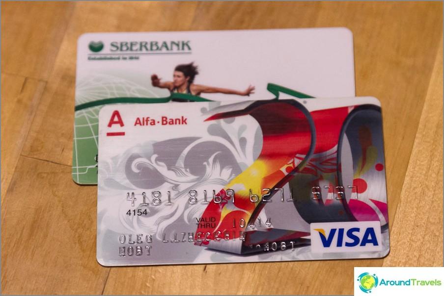 Valmistettu Sberbankin ja Alfa Pankin kortteja Thaimaalle