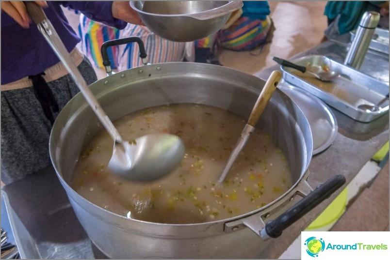 Външно обикновена и вкусна оризова каша с джинджифил