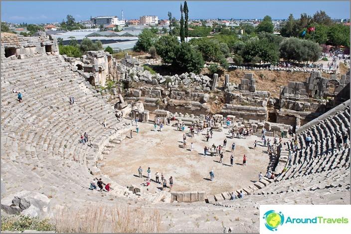 Амфитеатър. На света. Турция.