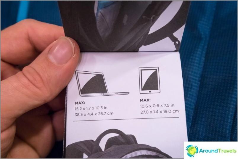 Kannettavan ja tablet-laitteen mitat, jotka voidaan laittaa