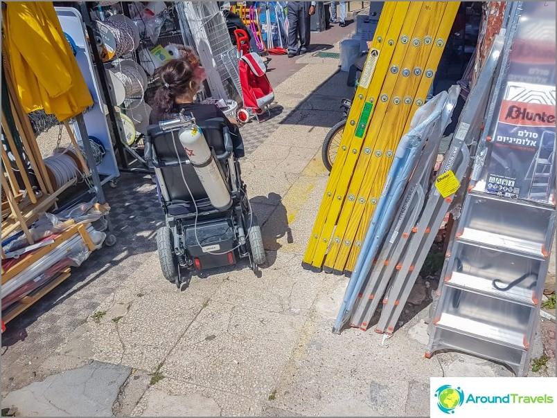Näe jatkuvasti pyörätuoleja kaduilla