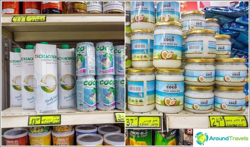 Kookosvesi ja kookosöljy, samat hinnat