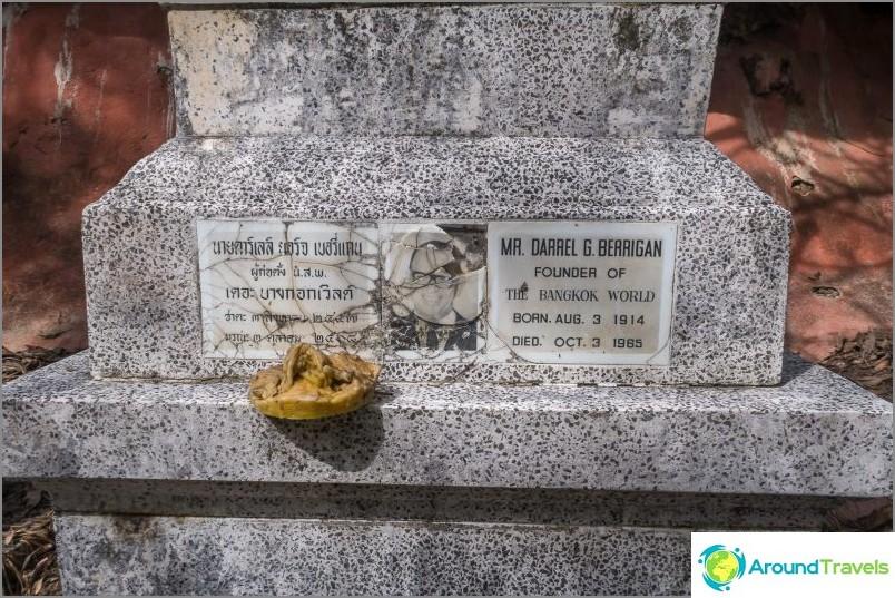 Koh Samuin ensimmäisen turistin hauta