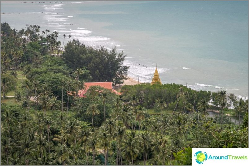 Alla olevan Lam Pagodan pagodin yläosa