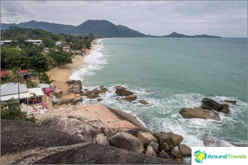 Изглед от гледката към плаж Ламай