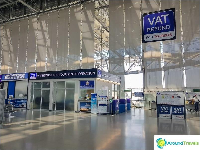 Vat Refund -konttori Suvarnabhumin lentokentällä