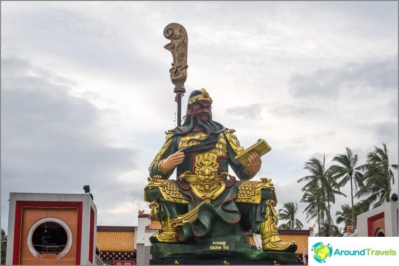 Punaisen kasvon jumala Guan Yu, alias Guan Di