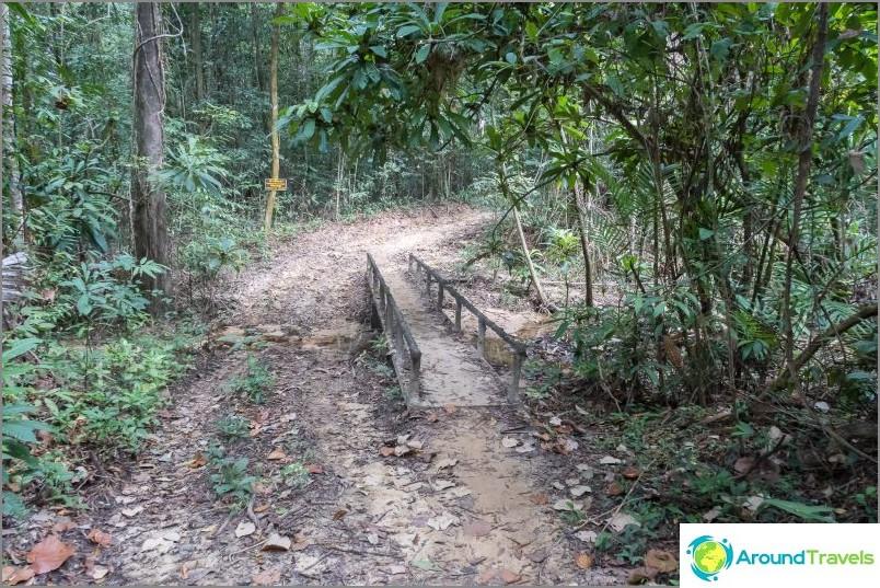 On paikkoja, joissa jätevettä voidaan kiertää tien yli sadekaudella.