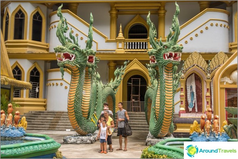 Tarkemmin sanottuna, jos kävelet pagodin ympärillä - eksyviä koiria on paljon, aggressiivisia.
