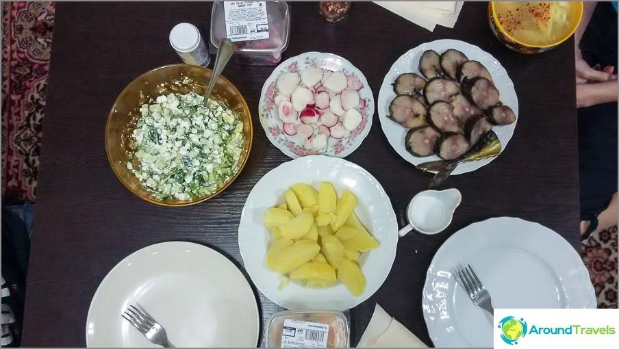 Домашна и бюджетна вечеря в Красная поляна