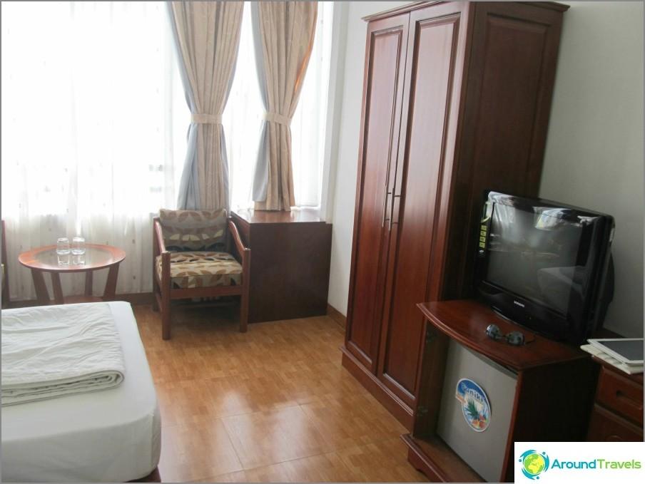 Hotellihuone Nha Trangissa 400 ruplaa päivässä: