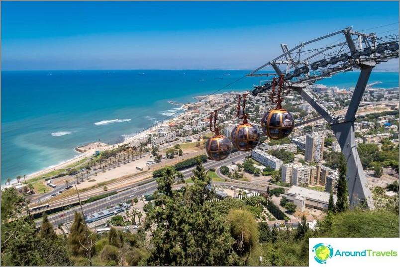 Nähtävyys Haifassa - köysirata