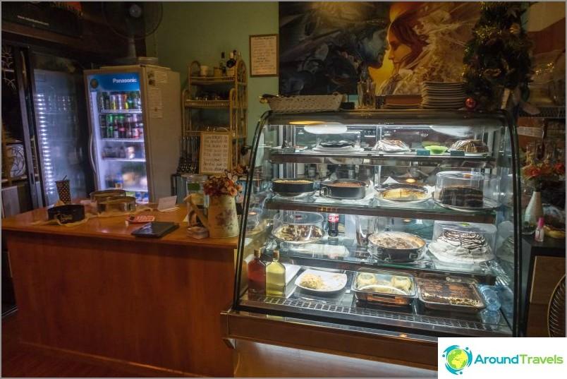 Sweet Shell -kahvila Koh Phanganissa - makealle ja venäläisen keittiön ystäville