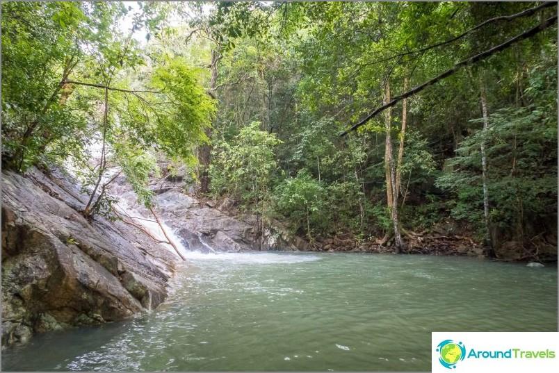 Paradise Falls Koh Phanganilla - saaren helpoimmin päästävissä