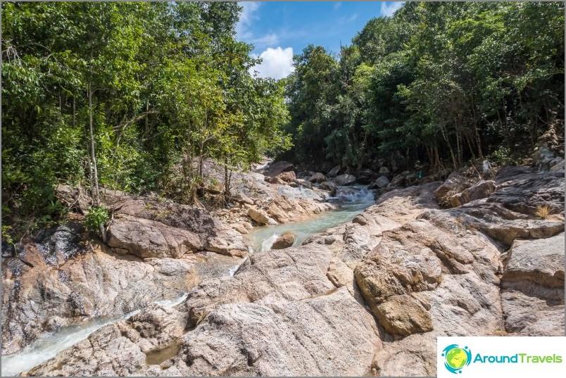 Wang Sai-vesiputous Phanganissa ja tunnelmallinen huvipuisto