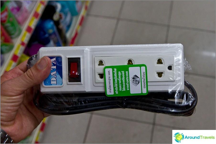 Удължителен кабел от тайландски магазин