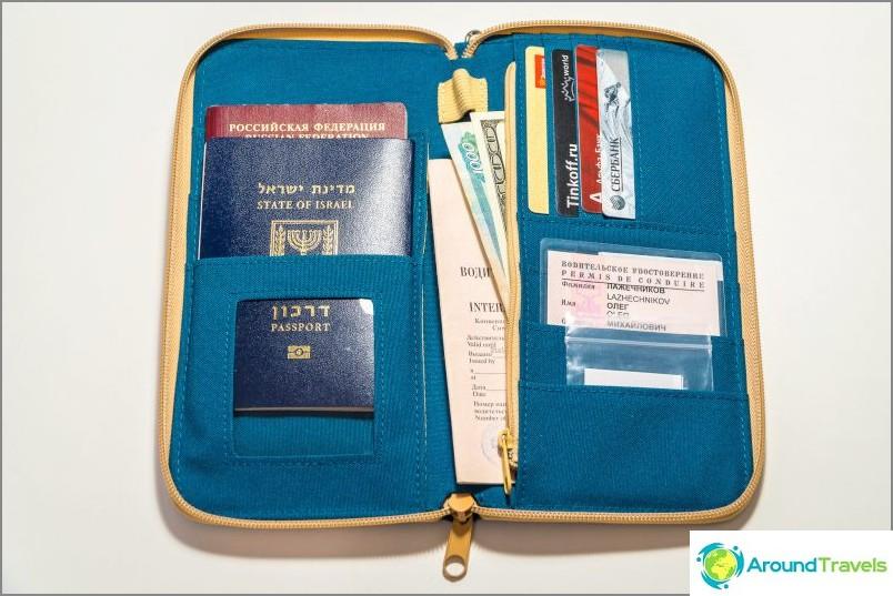 Matkaasiakirja lompakko