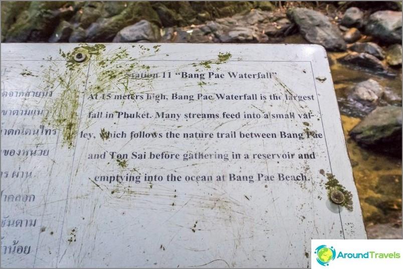 Bang Paen suurin vesiputous Phuketissa