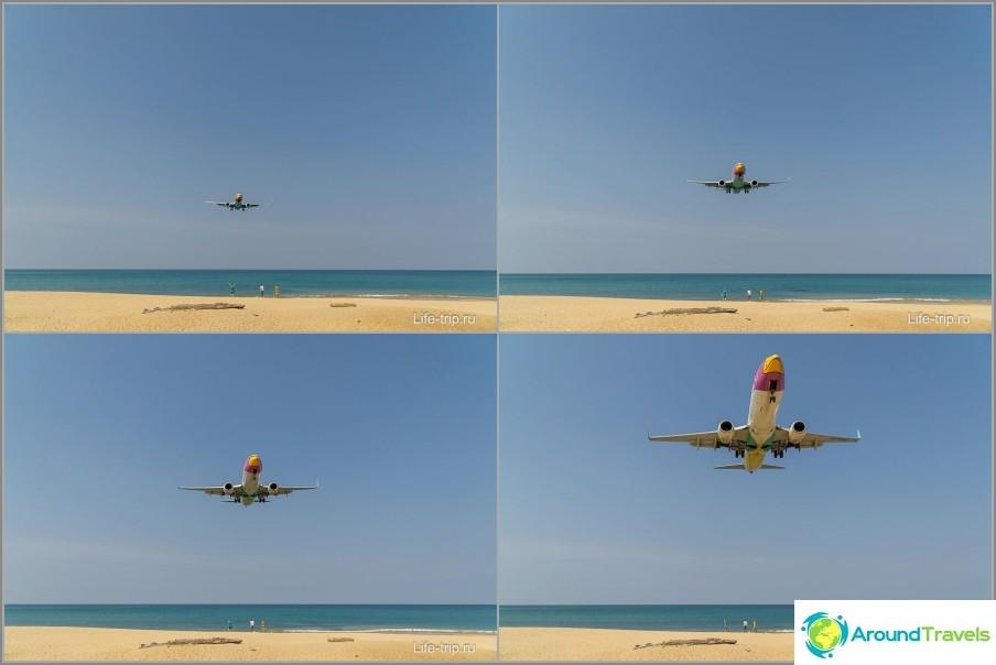 Phuketin uimaranta lentokoneilla