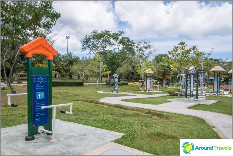 Royal Park (Rama IX Park) - ainoa puisto Phuketissa