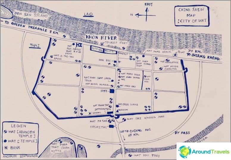 Kaaviokartta Chiang Saenista