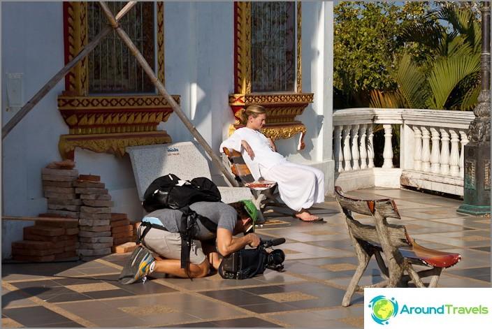 Турист със сериозна камера