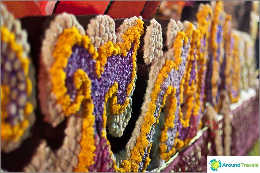 Thaimaan kukkafestivaali, kukkamosaiikki