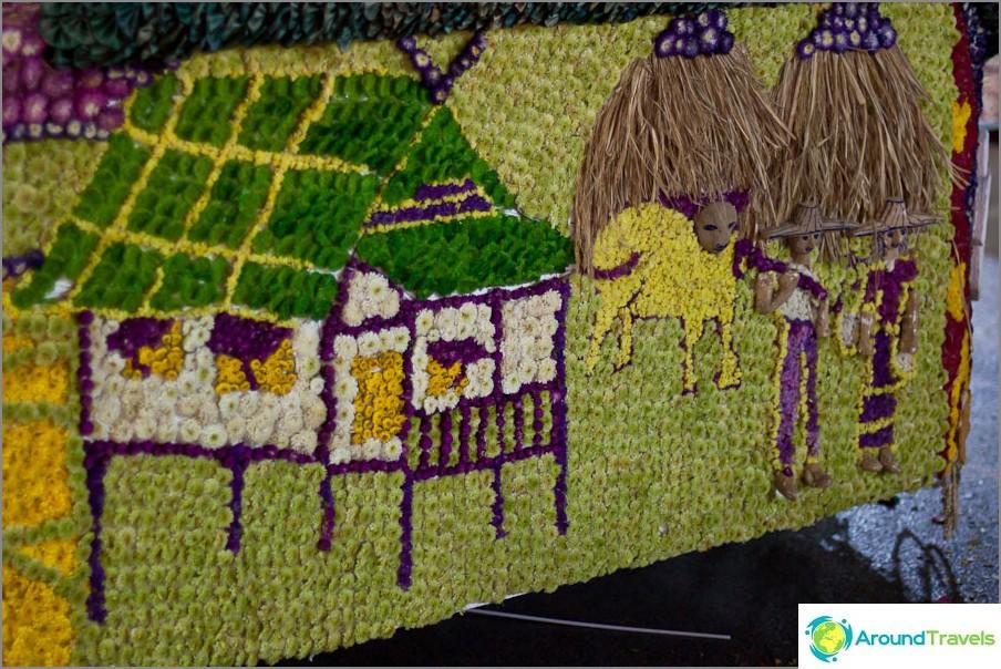 Chiang Mai Kukkafestivaali, Kukka Mosaiikki