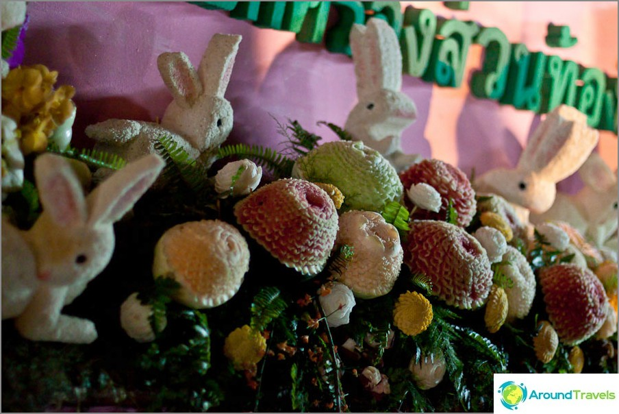 Vesimeloni- ja melonihahmot, Chiang Mai -kukkafestivaali