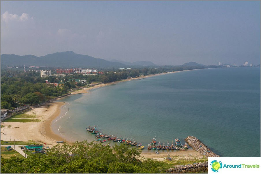 Täältä Khao Tao Beach on täysin näkyvissä.
