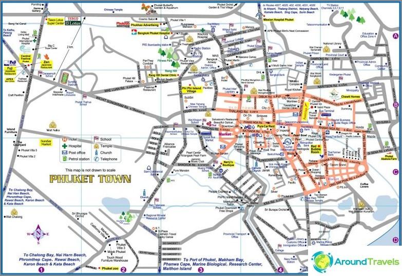 Phuketin kaupungin kartta