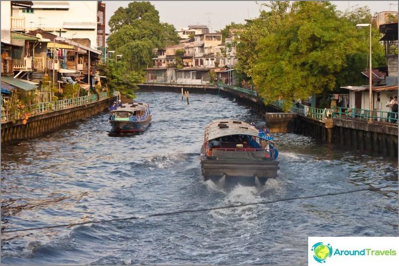 Jokikanava lähellä Wat Saketia