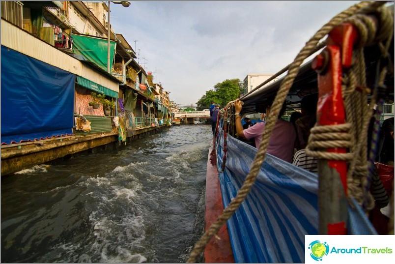 Uimme Bangkokin joen kanavia pitkin