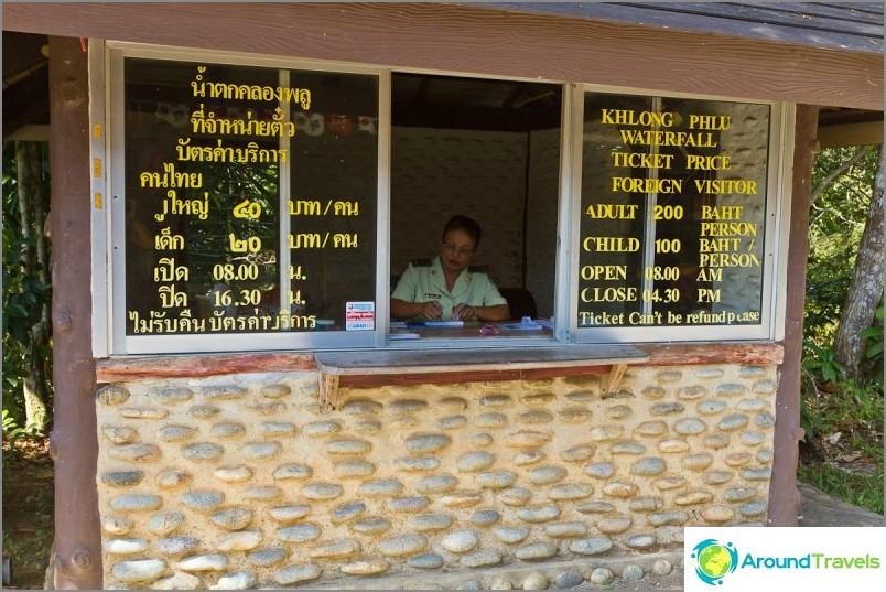Klong Plun kustannukset ja tunnit