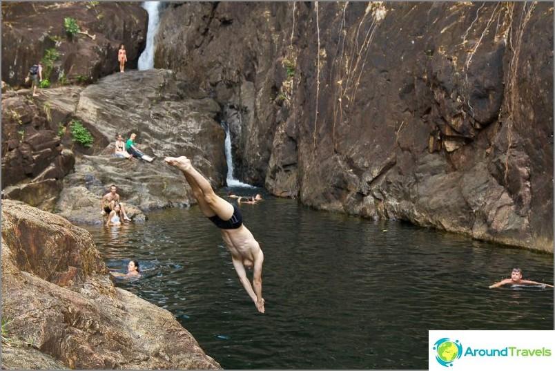 Upea paikka hyppää veteen