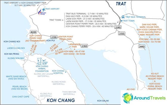 Kartta Moorings Koh Chang