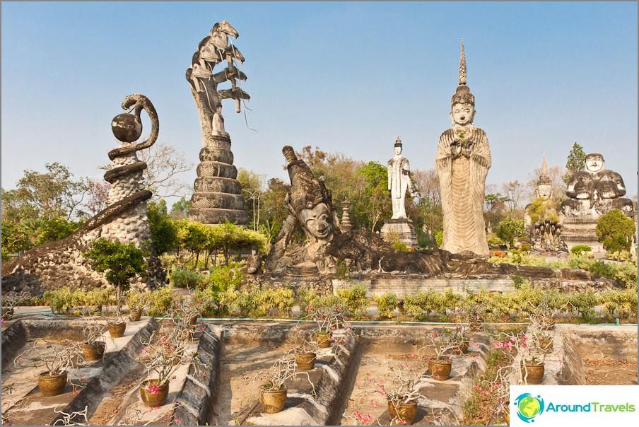 Veistos Buddha Park Sala Keoku