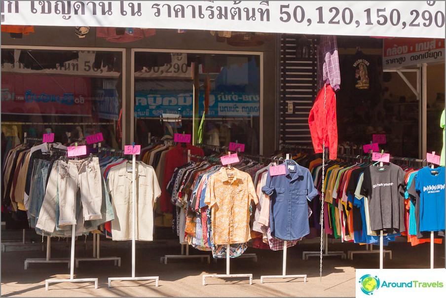Kuinka paljon Thaimaassa on vaatteita