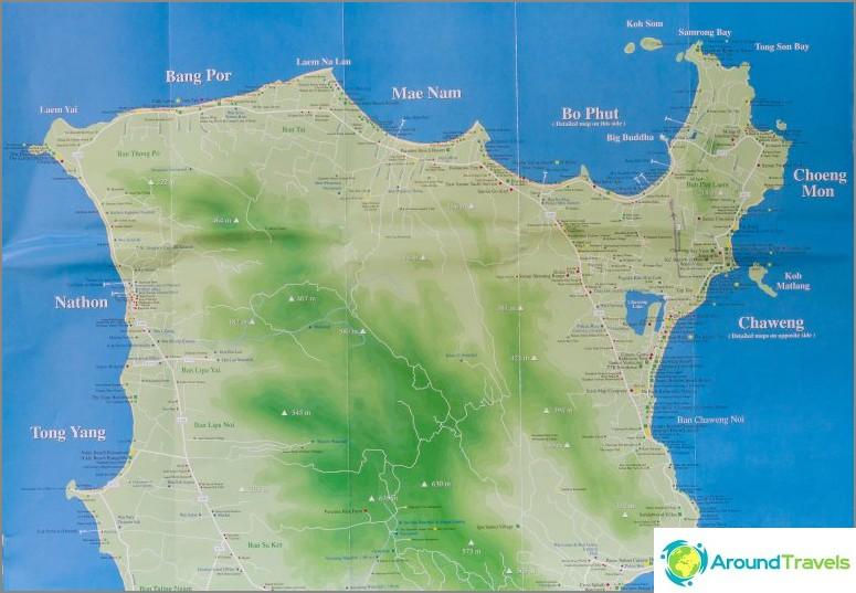 Kartta Pohjois-Samuista