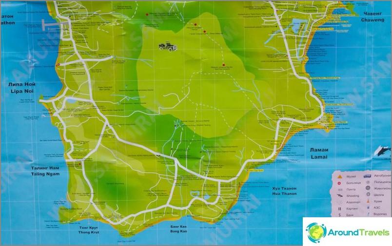 Kartta eteläisestä Samuista